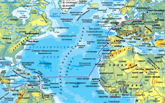 Атлантический океан: географическое положение, общие сведения