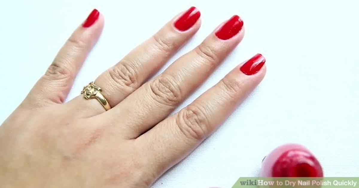 Вот как быстро высушить лак для ногтей! Бесценно!