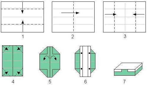 Как из листа бумаги сделать коробочку с крышкой