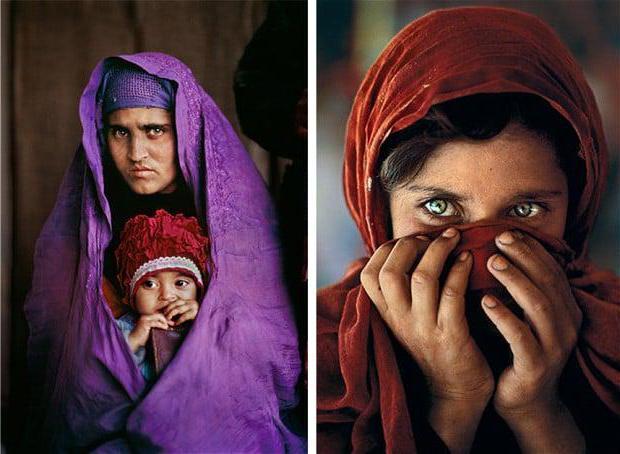 Афганская девочка с невероятными глазами