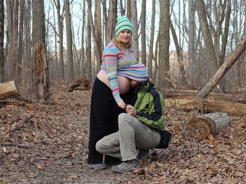 16странных фотографий будущих мамочек иихмужей