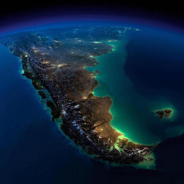 Страны и площадь Южной Америки