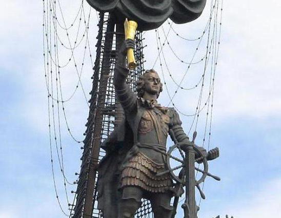 Петр 1 (памятник в Москве): описание и история