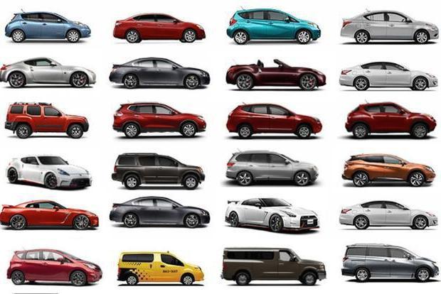 Все модели  Ниссан : от кабриолетов до фургонов