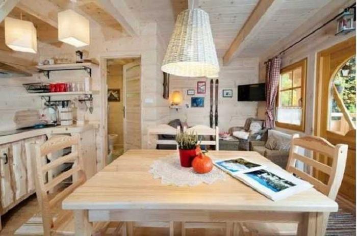 Домик площадью всего 27 кв.метров, в котором достаточно места для всего необходимого
