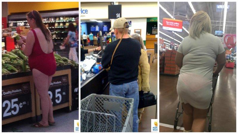 Этилюди просто пришли запокупками вамериканский супермаркет Walmart