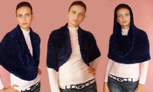 Как носить шарф-трансформер? Шарф-трансформер: как вязать?