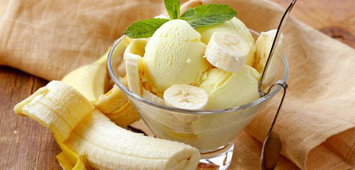 Рецепты с бананом мороженое