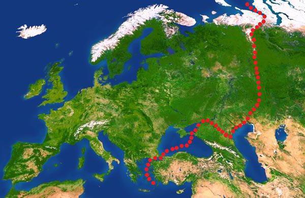 Где проходит граница между азией и европой