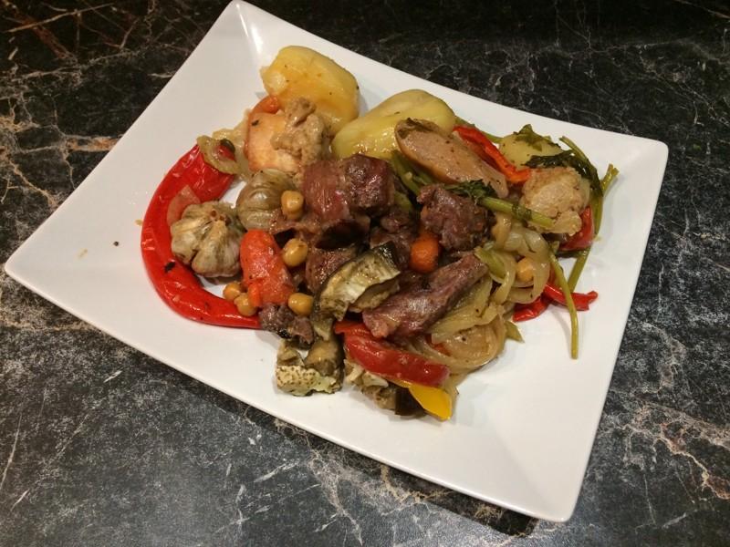 Рецепт тушения овощей с мясом