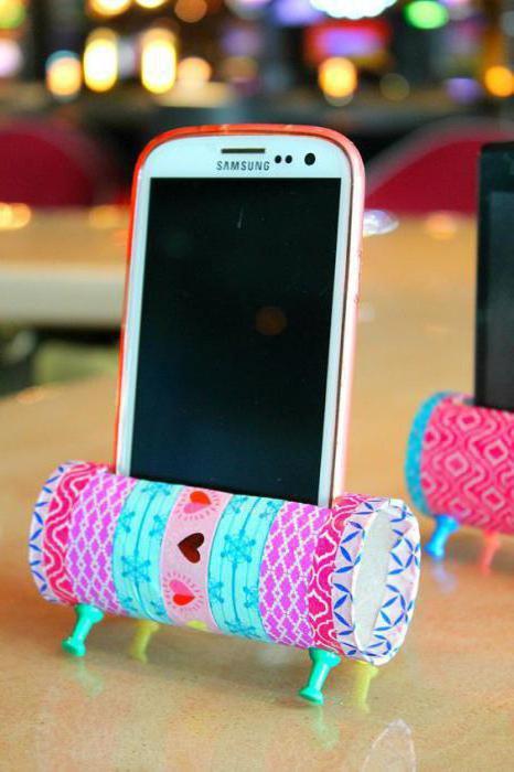 Подставка для телефона своими руками: как сделать из бумаги, из дерева