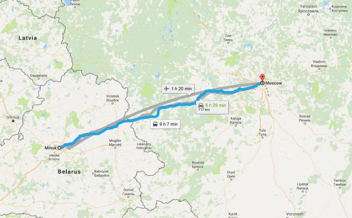 Путешествие из одной столицы в другую: сколько км от Москвы до Минска?