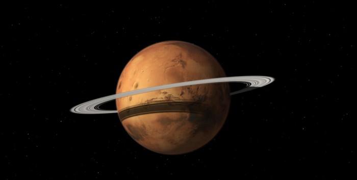 Марс начал формировать собственную систему колец?