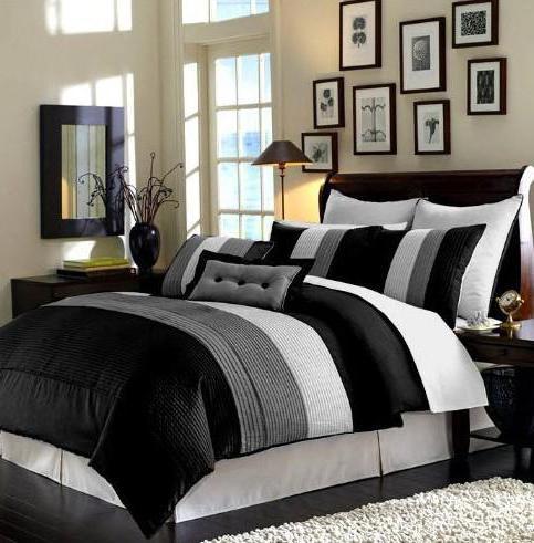 Черное постельное белье как дизайнерский акцент