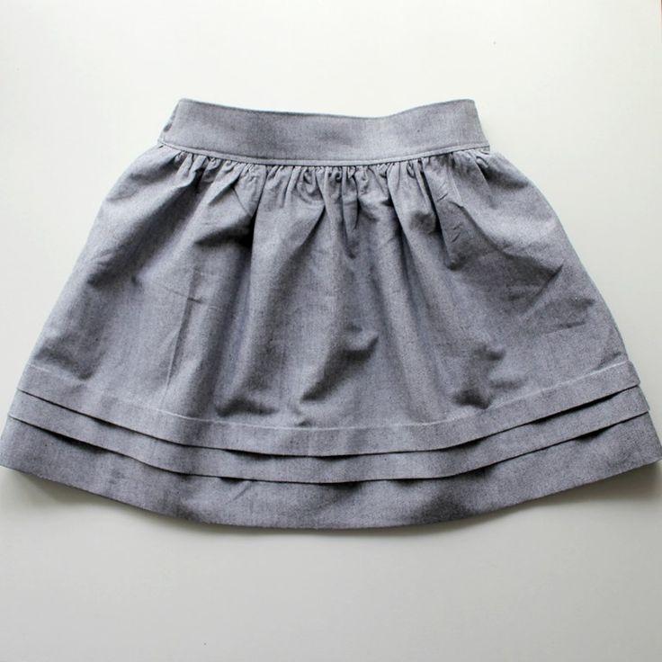 Выкройка юбки для девочек своими руками