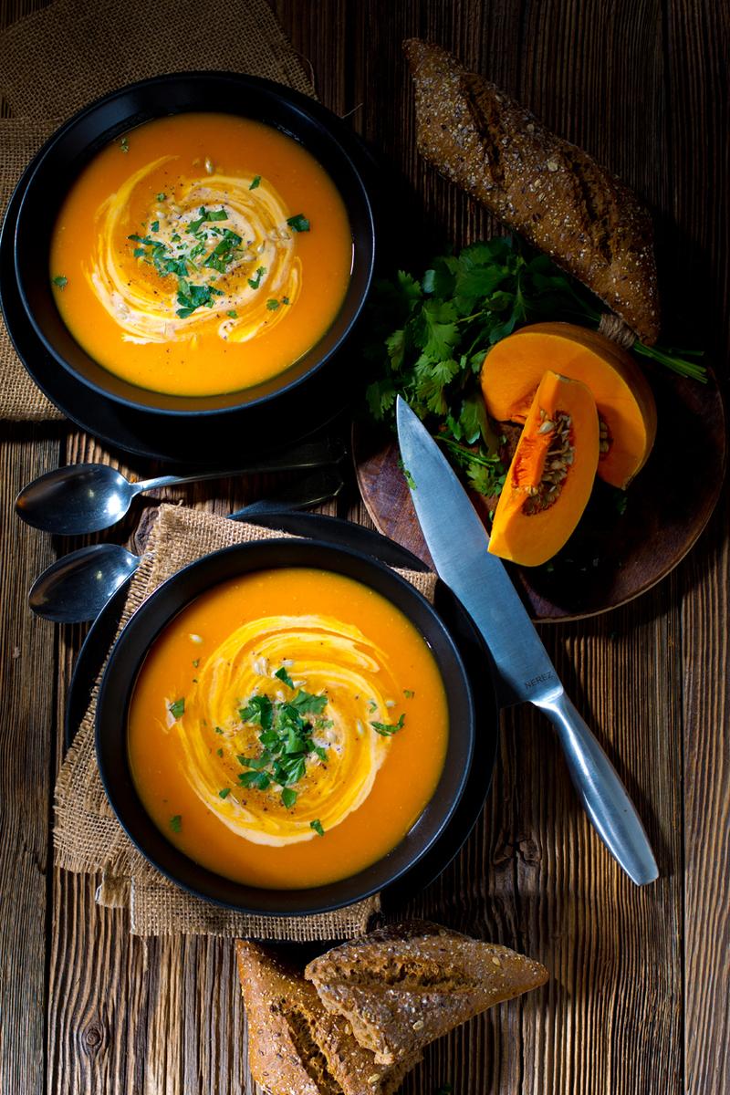 Живой суп-пюре из тыквы без варки!