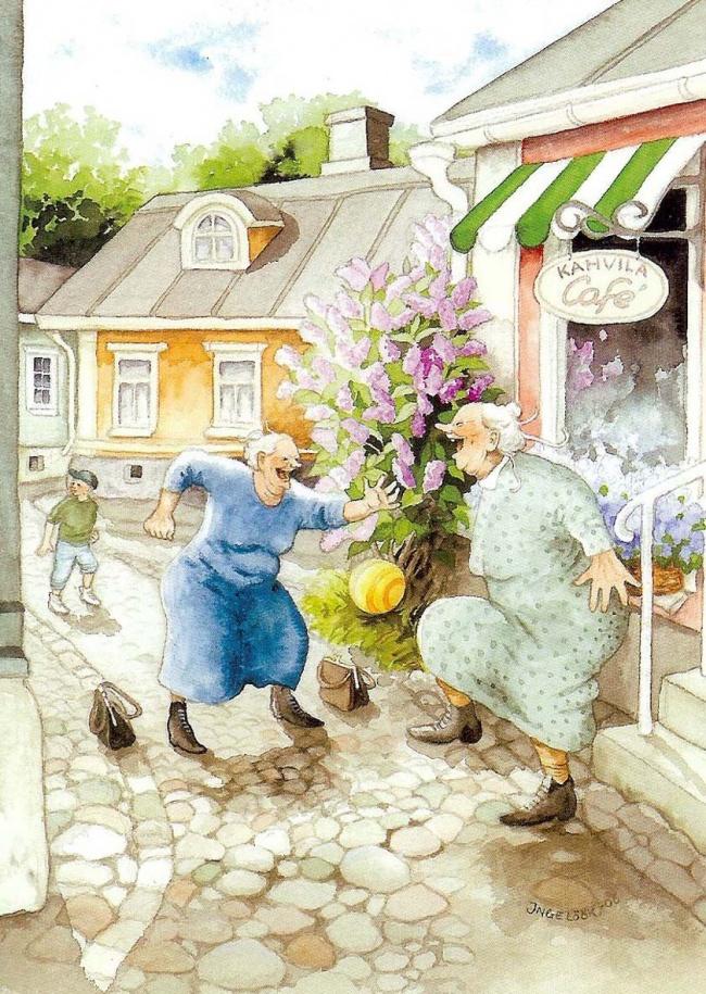 20 иллюстраций о том, как современная молодежь будет проводить старость