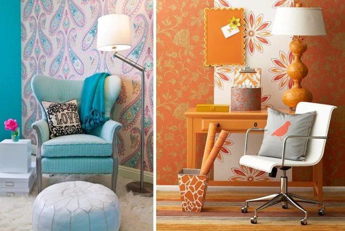 15 эффектных идей, как с помощью остатков обоев сделать интерьер красивее и уютнее