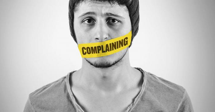 Сможете ли вы прожить хотя бы один день без жалоб?