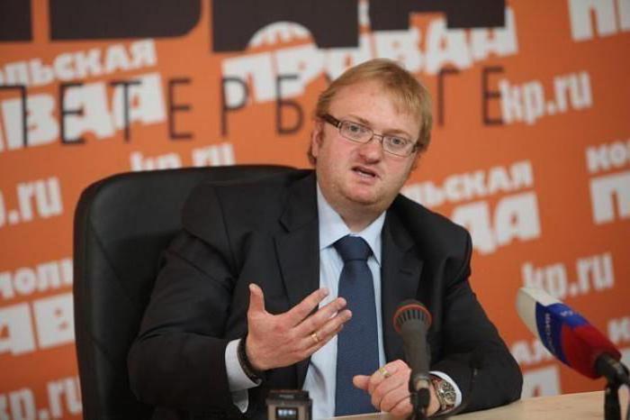 Виталий Милонов: биография и фото депутата Госдумы