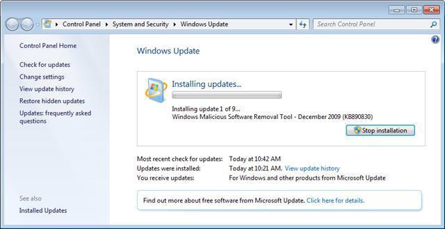 Как включить обновления на Windows 7: советы по активации службы и устранению проблем
