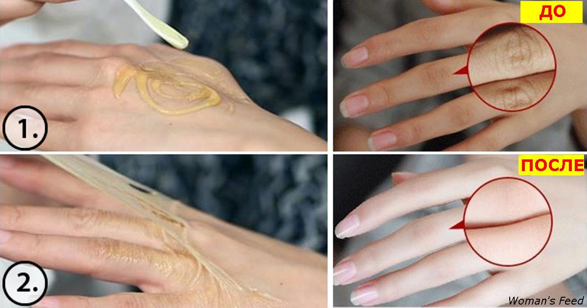 Намажьте этим средством руки – и через 15 минут морщинки полностью исчезнут