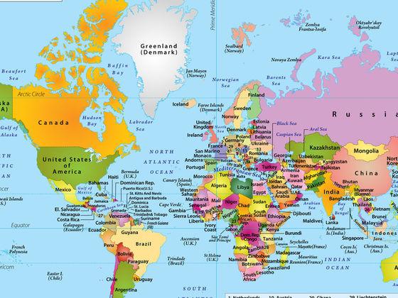 Только 1 человек из 50 может назвать все столицы этих 25 стран