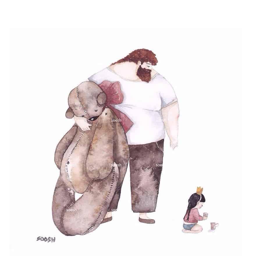 Эти волшебные иллюстрации с настоящими историями из жизни папы и дочки покажут, насколько нежной и трепетной бывает отцовская любовь