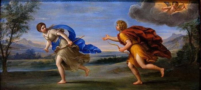 Аполлон и Дафна : скульптура, созданная по мотивам  древнегреческого мифа