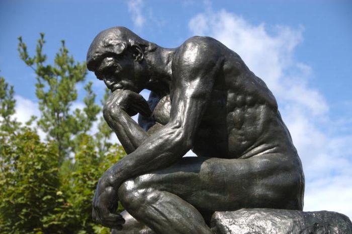Мыслитель  Родена: фото и описание