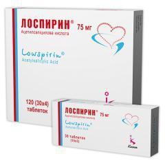 Лоспирин : инструкция по применению, показания, состав, аналоги, отзывы