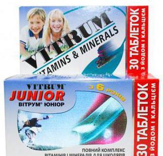 Витаминный комплекс  Витрум Юниор : инструкция по применению, состав, отзывы