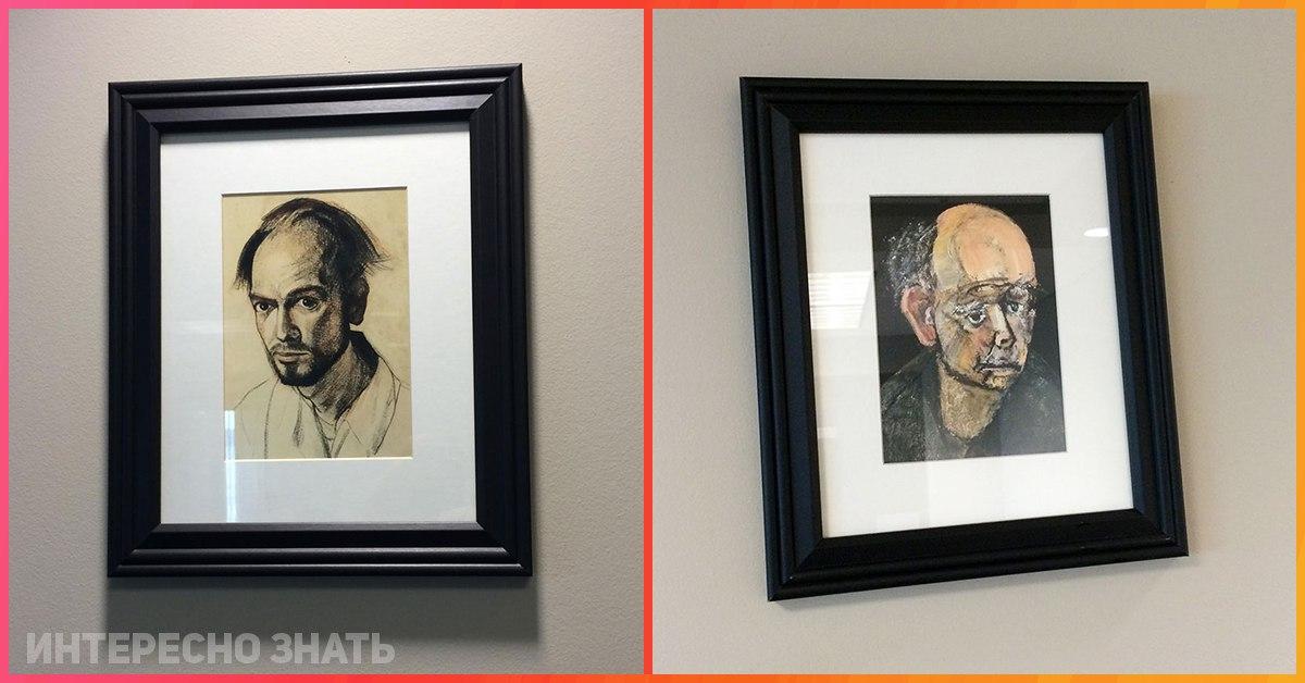 Художник с болезнью Альцгеймера на протяжении нескольких лет рисовал автопортреты